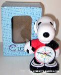 Snoopy Soccer Player Figural Clock