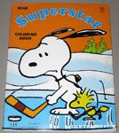 Snoopy & Woodstock playing hockey 'Superstar' Coloring Book