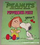 Snoopy kissing Peppermint Patty Coloring Book