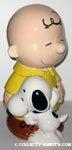 Snoopy hugging Charlie Brown Cookie Jar