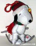 Snoopy Skier Bag Clip