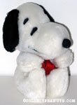 Snoopy sitting wearing red ribbon Plush Doll