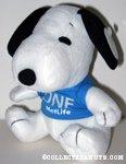 Snoopy wearing 'one' t-shirt Plush