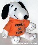 Snoopy wearing 'Trick or Treat' t-shirt Plush