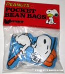 Snoopy leaning on baseball bat Pocket Bean Bag