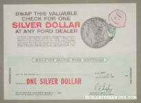 Silver Dollar Certificate