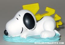 Snoopy sleeping spring figurine