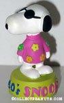 Snoopy wearing flowers '1960's' Figurine