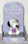 Snoopy with present 'birthday girl' Figurine