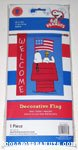 Snoopy & Woodstock on doghouse with American flag 'Welcome' Flag