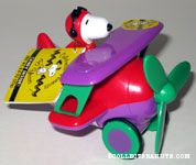 Snoopy Flying Ace in Plane 60th Anniversary Candy Container