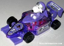 Snoopy driving purple racecar Candy Container