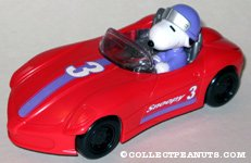 Snoopy driving red race car Candy Container