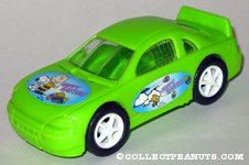 Peanuts green Easter car Candy Container