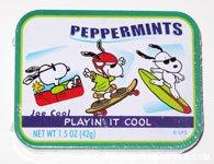 Snoopy Joe Cool Extreme Sports Peppermint Tin
