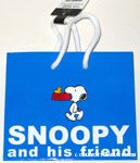Snoopy carrying dog dish in his mouth with Woodstock Gift Bag