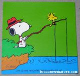 Snoopy & Woodstock fishing Gift Tag