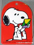 Snoopy holding envelope Gift Tag
