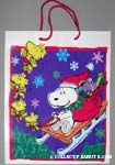 Snoopy on sleigh driven by Woodstocks