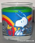 Snoopy and Woodstock glass