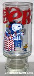 Snoopy Flying Ace and Woodstock toasting with Root Beer 'Cheers!' Glass