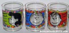Peanuts Gang glass tumblers