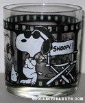 Snoopy Film Reel glass