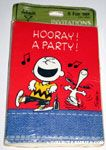 Snoopy & Charlie Brown dancing 'Hooray! A Party!' Party Invitations