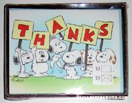 Daisy Hill Puppies holding 'Thanks' Signs Note Cards