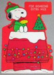 Snoopy & Woodstock Christmas Greeting Card