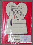 Snoopy & Bunny on doghouse Valentine Card