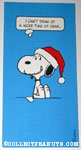 Snoopy in stocking hat 'I can't think of a nice time of year' Card