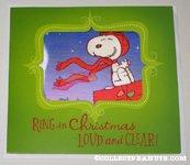 Snoopy Flying Ace lenticular Christmas Card