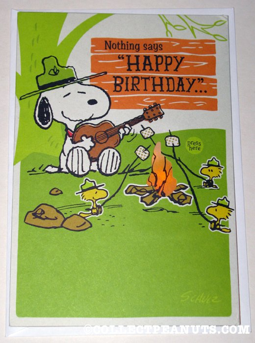 Snoopy Woodstock Beaglescouts Musical Birthday Greeting Card