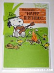 Snoopy & Woodstock beagle scouts musical Birthday Greeting Card