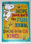 Snoopy & Woodstock dancing Birthday Greeting Card