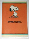 Snoopy Smiling Thank You Card