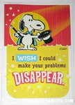 Snoopy Magician 'Make your problems disappear' Greeting Card