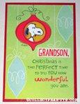 Snoopy'GrandSon' Christmas Card