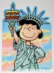 Lucy Statue of Liberty Greeting Card