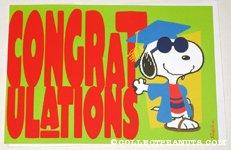 Snoopy Joe Cool Graduation Greeting Card
