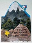 Snoopy & Woodstock mountain climbing Greeting Card