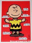 Charlie Brown arrow chart Greeting Card