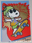 Snoopy on skateboard Greeting Card