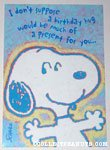 Snoopy Birthday Hug Greeting Card