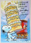 Snoopy & Woodstock with Cake & Ice Cream Birthday Greeting Card