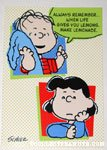 Lucy & Linus 'Life gives you lemons' Greeting Card