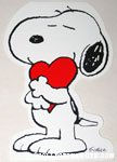 Snoopy hugging heart Greeting Card