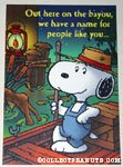 Snoopy on the bayou Greeting Card