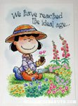Lucy gardening Birthday Greeting Card